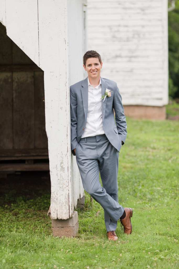 Updike wedding, NJ wedding, rustic Princeton wedding, j,crew suit