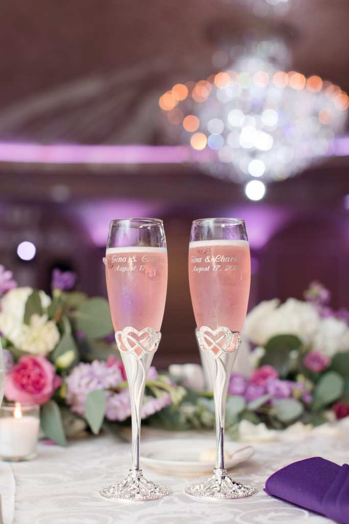 Champagne toast, Champagne flutes, NJ wedding photographer