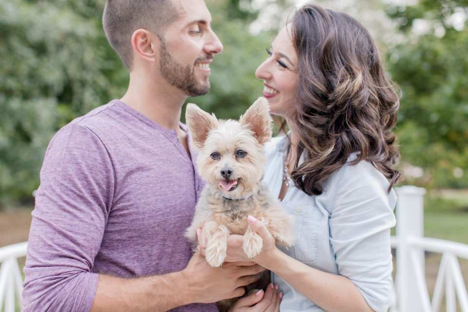 pets in engagement photos, engagement photos with dogs, Central NJ weddings, NJ wedding photographer
