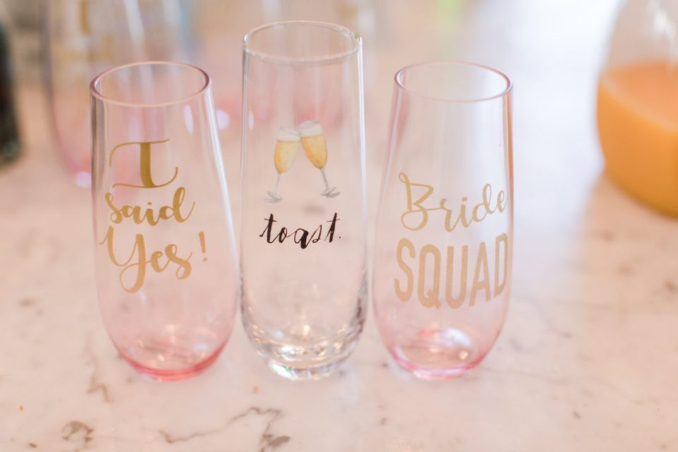 Gifts Ideas for Every Type of Groomsmen and Bridesmaids, bridal party gift ideas, champagne flutes for brides prep