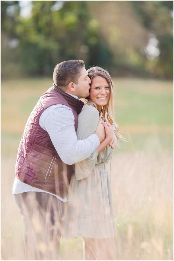 outdoor field engagement photos, fun couple engagement photos, Holmdel engagement photos, NJ wedding photographer