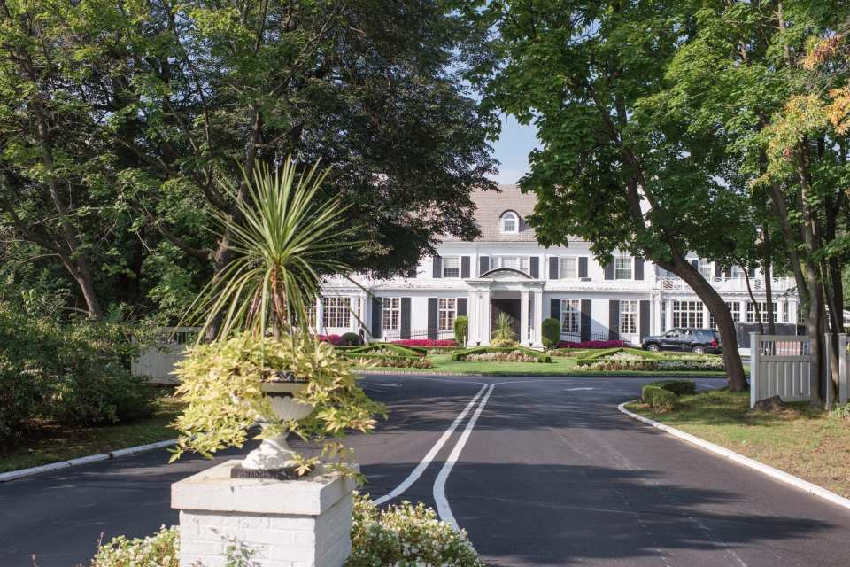 wide shot of the entrance to Shadowbrook