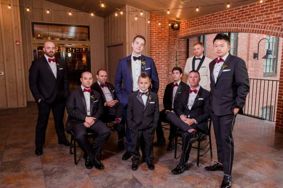 groom and groomsmen in formal photo