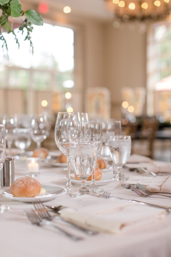 details of reception place settings