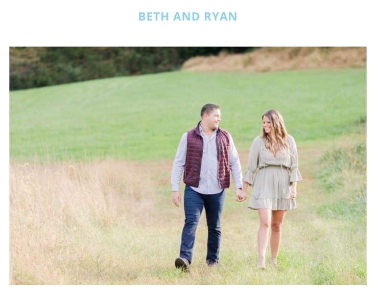 Beth and Ryan title shot from How They Asked publication