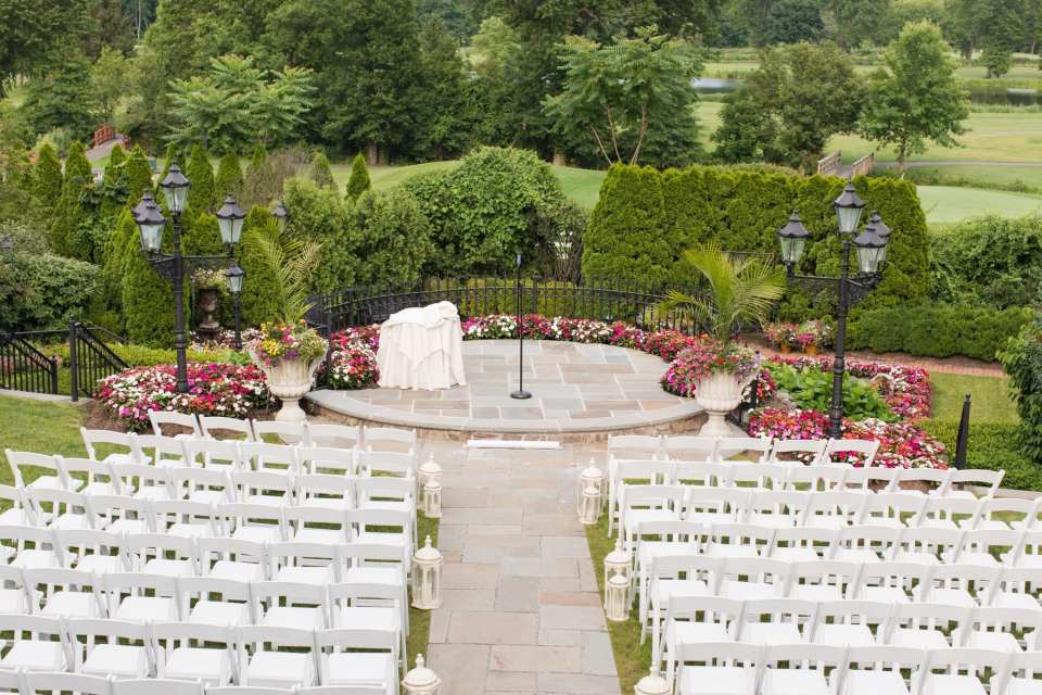 Wide angle photo of the ceremony location at the Park Savoy Estate
