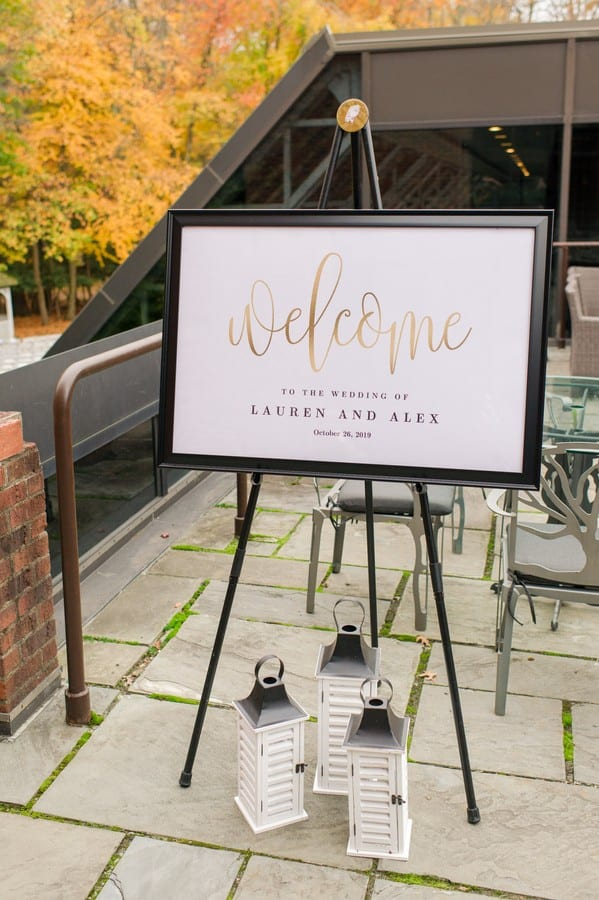 Custom welcome to wedding signage