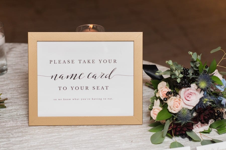 Custom signage for name cards