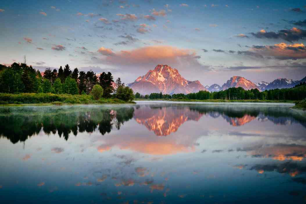 Teton Photo Adventures - Sunrise Oxbow Reflection Wyoming Tetons