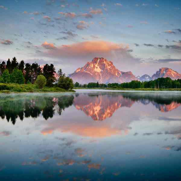 Teton Photo Adventures - Sunrise Oxbow Reflection Wyoming Tetons