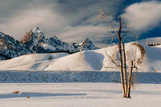 Teton Photo Adventures - Snow Winter Grand Teton Hillside