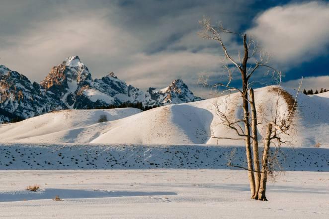 Teton Photo Adventures - Snow Winter Grand Teton Hillside