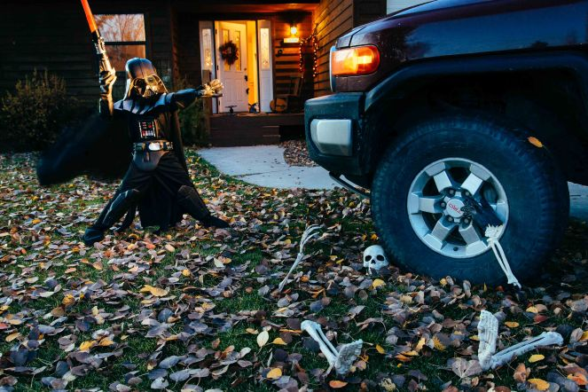 Boy Darth Vader Toyota Halloween