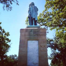Keokuk memorial in Rand Park.
