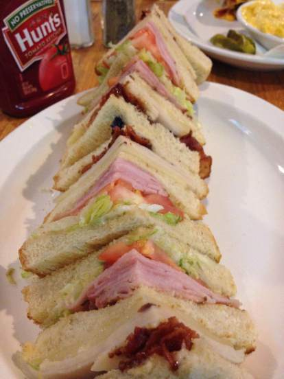 Giant Club Sandwich at The Sports Page in fort Dodge. https://www.facebook.com/SportsPageFD/?fref=ts