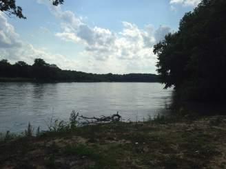 the ever present Des Moines River. Van Buren's once main highway system.