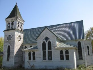 The historic abandon church in Mount Sterling. Still intact and sparking the imaginations of visitors and history buffs.