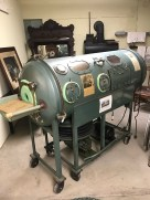 Iron lung from the polio epidemic.