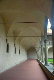 I love arches of all kinds! This is the walkway outside Santa Croce.