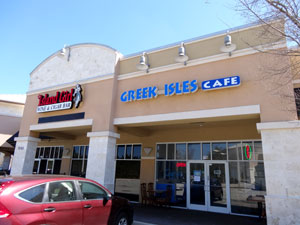 Greek Isles Cafe is next to Island Girl at Interstate 295 and Gate Parkway.