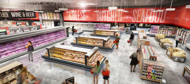 The new Winn-Dixie Baymeadows sports upgraded aesthetic touches, including bolder signage and bright LEDs overhead.