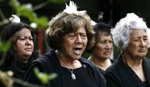 "Karanga is a Maori term for ""calling"". Here it shows as a traditional part of a welcoming ceremony."