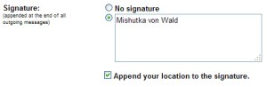 Location in Signature