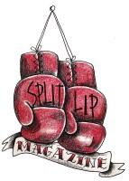 split lip boxing gloves logo