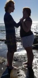 Cheezy Romantic Scene at the Coast