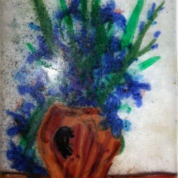 Iris in a Pot (Van Gogh style)