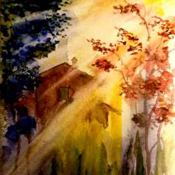 Watercolor Sunlight Streaming