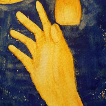 Sky Lantern I (detail of right hand)