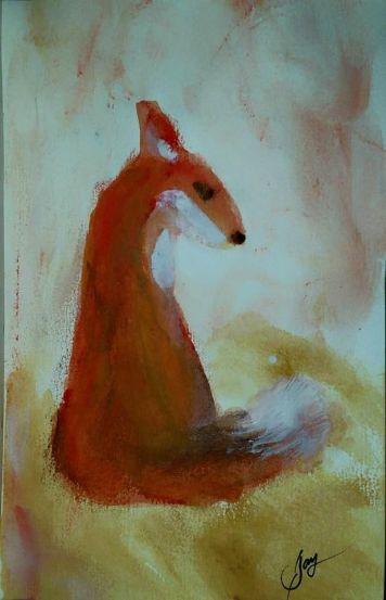 Fingerpainting Fox