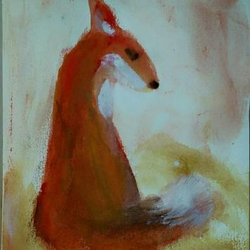 Fingerpainting Fox