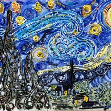 Starry Night Quainting, but a small version of it