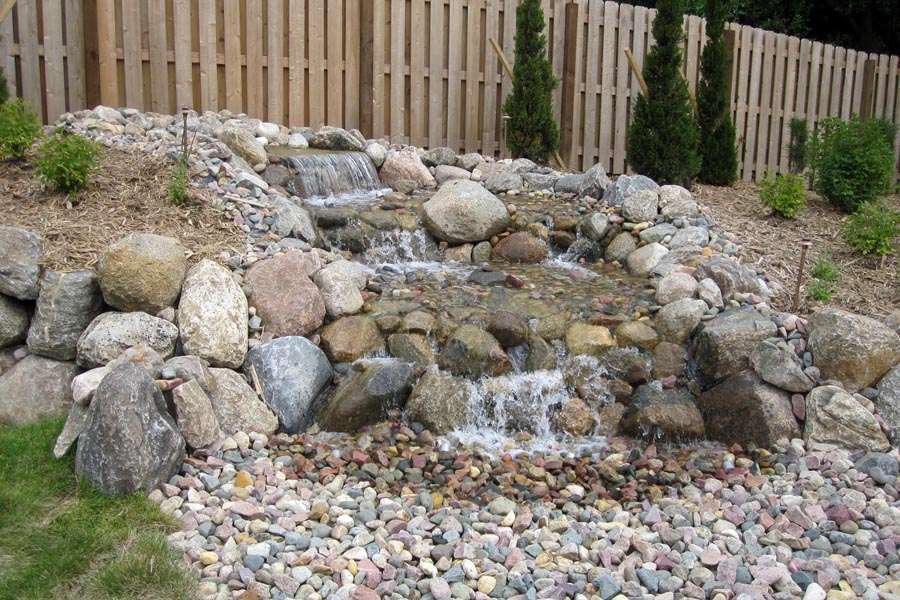Three Drop Boulder Water Feature