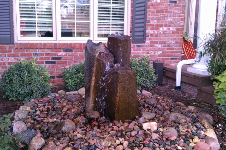 Basalt Column Water Feature