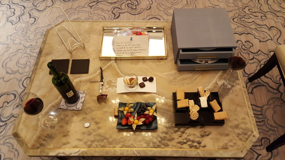 ritz carlton welcome package