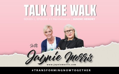 TalkTheWalk Podcast Janine Hendry with Jaynie Morris