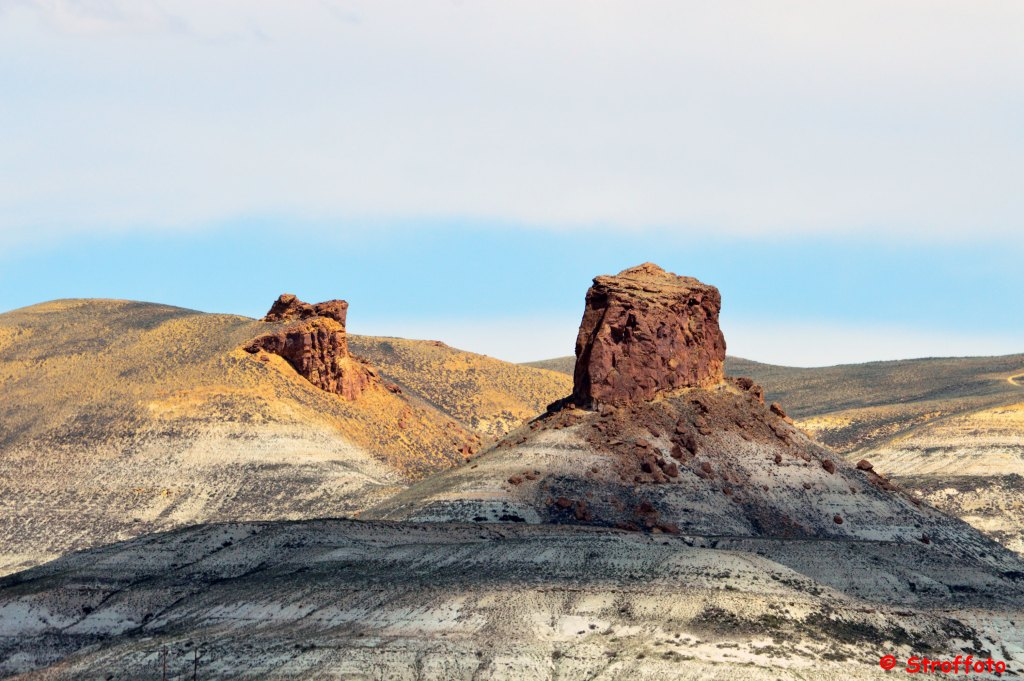 Scenic view of some Buttes along the Lincoln Highway