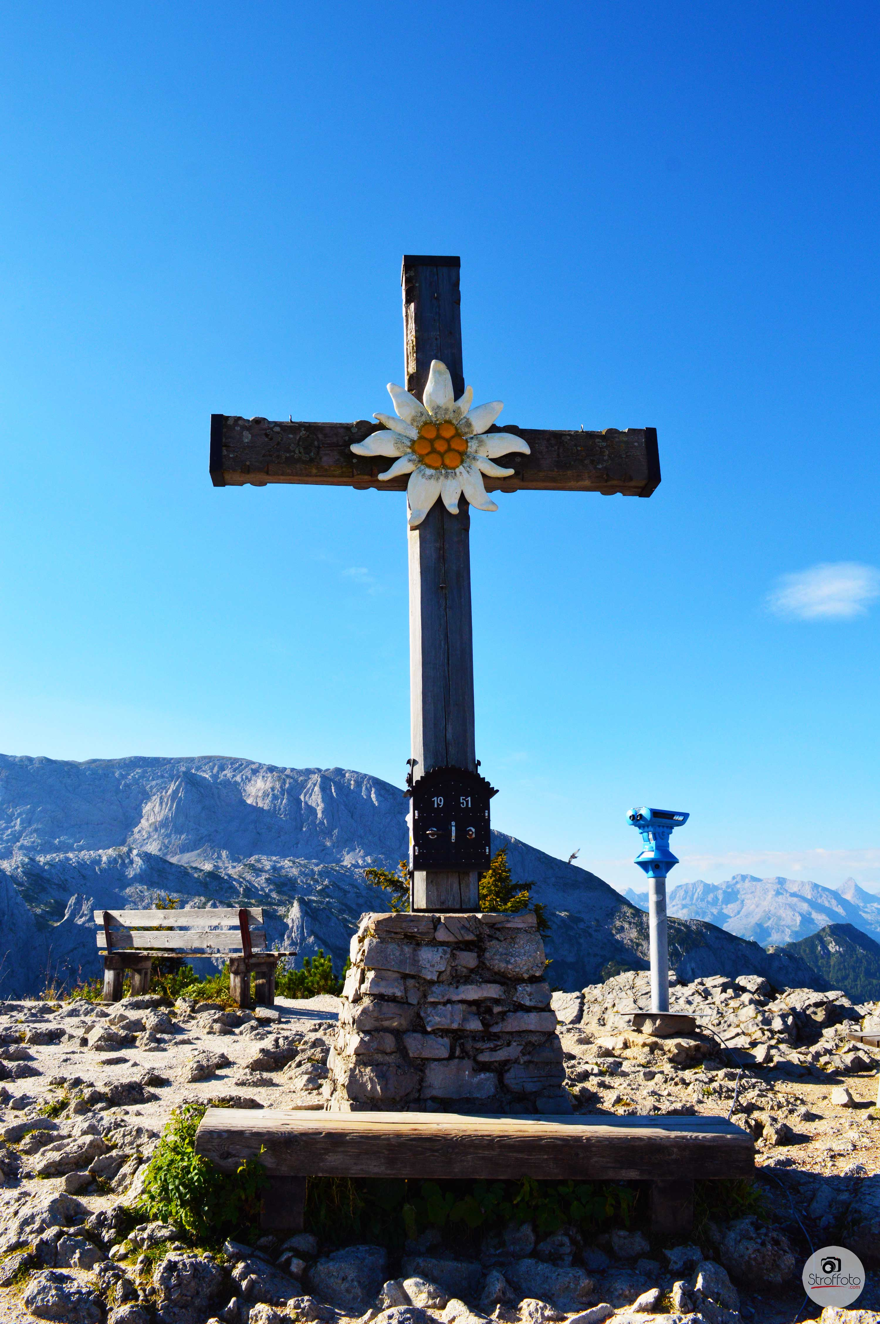 Cross at top of Eagle's Nest