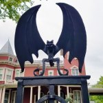 Bat Statue on the Gate