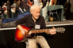 Bruce Ackerman checking out an acoustic.