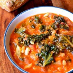 8 Vegetable Mediterranean Lentil and Tomato Soup (for 1)