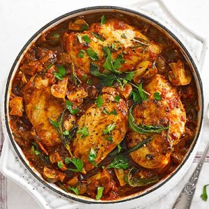 Grilled Chicken Cacciatore with Penne (for 2)