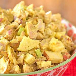 Curried Chicken, Apple and Apricot Chutney Salad (for 2)