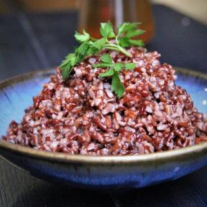 Brown and Red Rice Pilaf (for 10)