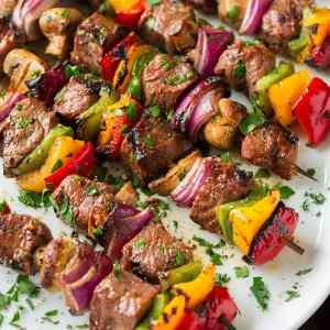 Hibachi Steak and Shrimp Bowl, Mushroom-Edamame Medley, Brown Rice (for 2)