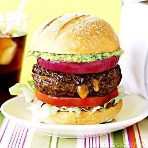 Gourmet Angus Cheeseburgers with Roasted Chile Mayo (for 4)