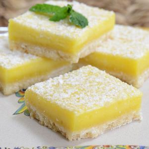 Lemon Bars with Shortbread Crust from Two Sistah's (for 1+)